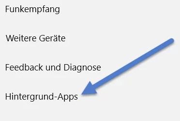 Hintergrund-Apps
