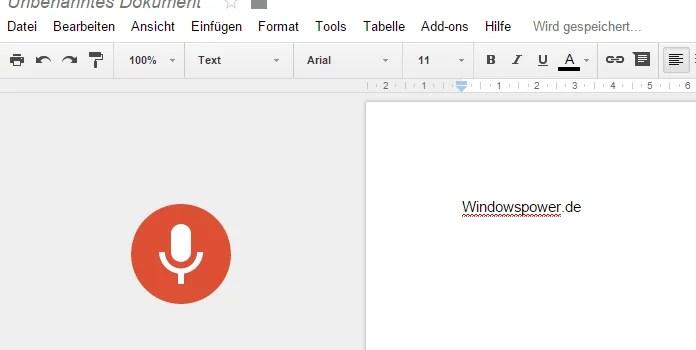 Google Docs: Jetzt mit Spracherkennung – so geht's 0