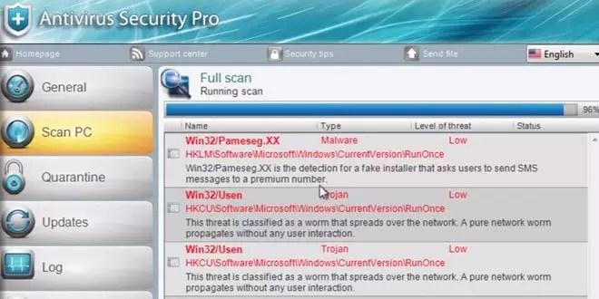 Antivirus Security Pro Entfernen 0