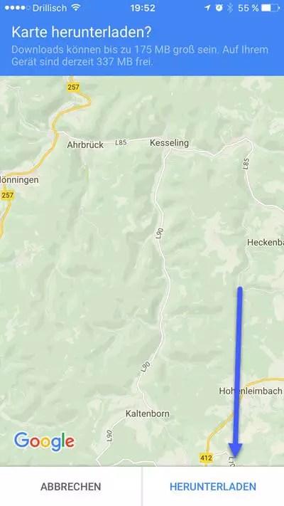 google-maps kate offline