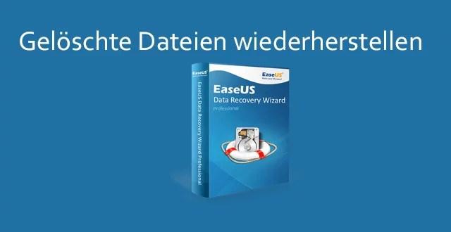 EaseUS Data Recovery Wizard ausprobiert 10.5 + 5 Lizenzen zu gewinnen 0