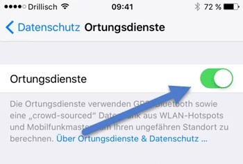 Ortungsdienst iphone