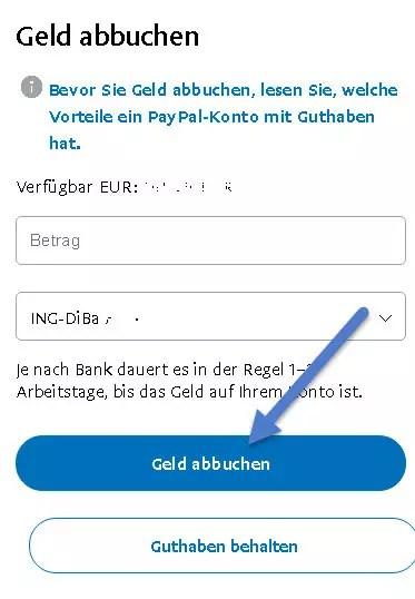 Paypal Geld Abbuchen GebГјhr