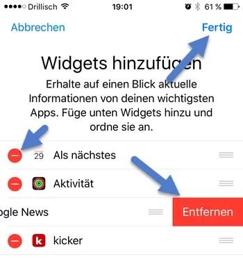 widgets-entfernen