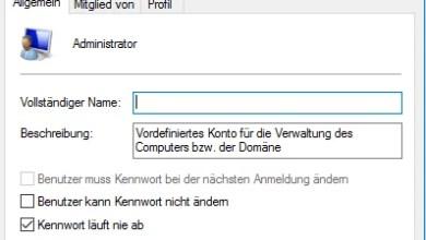 Administrator über die Computerverwaltung aktivieren 0