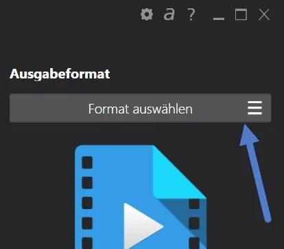 format-auswaehlen