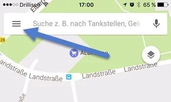 maps-einstellungen