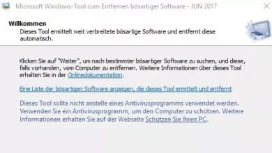 Windows verstecktes Tool um Malware zu entfernen 0