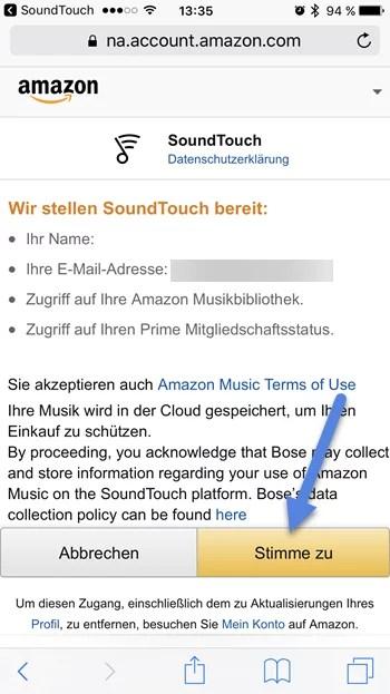 soundtouch app amazon erlauben