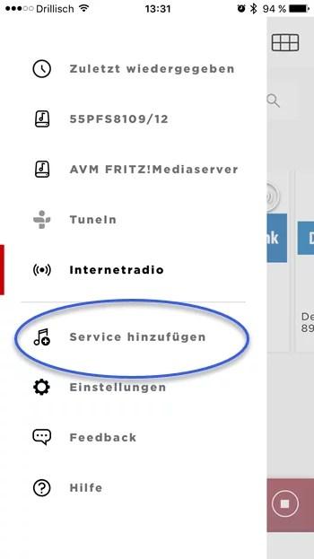 soundtouch-app-service-hinzufuegen