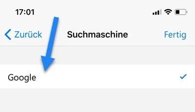 Microsoft Edge Mobile Browser Suchmaschine ändern 2