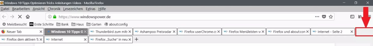 Firefox Mehrzeilige Tableiste 4