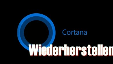 Windows 10 Cortana & Windows wiederherstellen 0