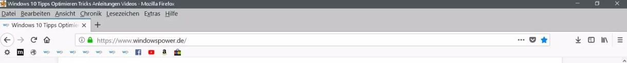Firefox Lesezeichensymbolleiste ohne Text anzeigen 3