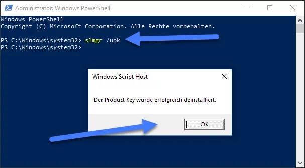Windows 10 Lizenz deinstallieren und auf anderen Computer übertragen