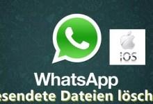 Whats App gesendete Dateien löschen iOs 0