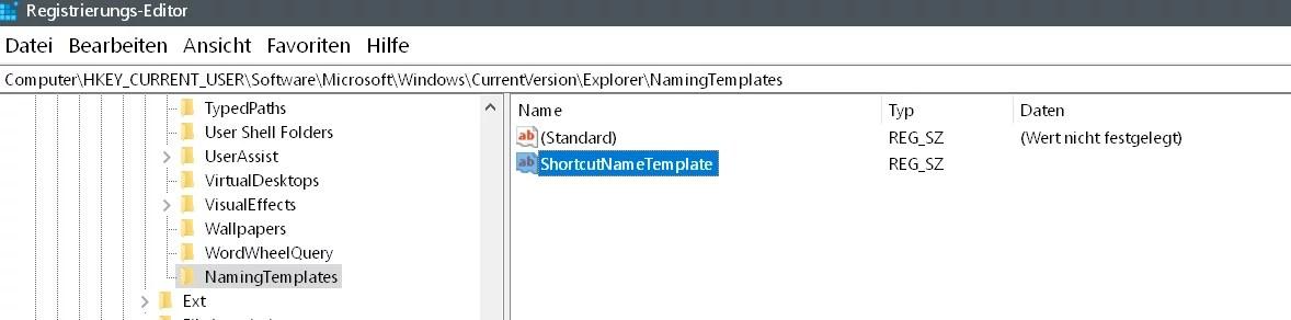 """Windows 10 Den Zusatz """"Verknüpfung"""" entfernen auf dem Desktop 8"""