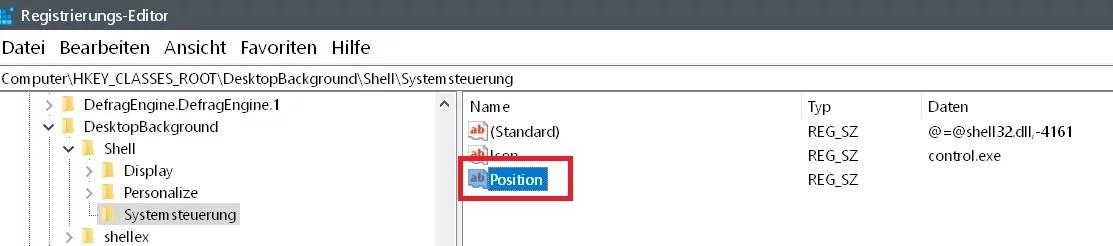 Windows 10 Systemsteuerung ins Kontextmenü hinzufügen 8