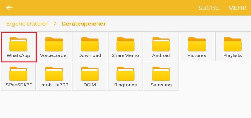 whatsapp ordner