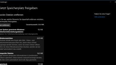 Windows 10 Speicherplatz gewinnen 0