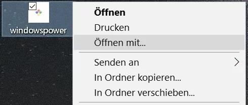 Windows 10 Kontextmenü auf einer Internetverknüpfung 8