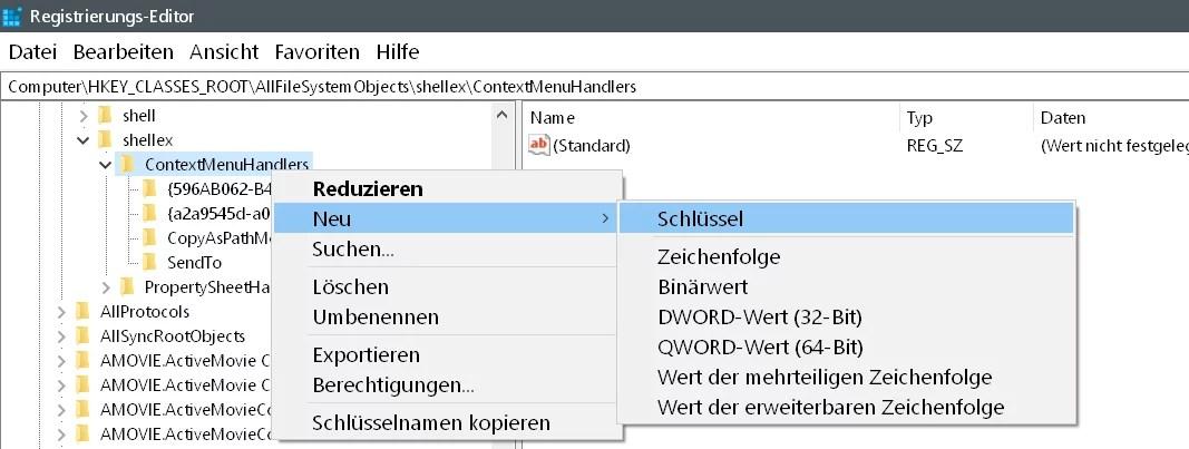 Windows 10 Ordner kopieren/verschieben im Kontextmenü 6