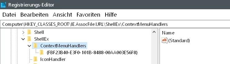 Windows 10 Kontextmenü auf einer Internetverknüpfung 5
