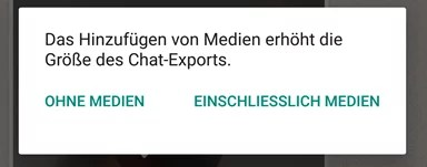 WhatsApp Chat per E-Mail Sichern Exportieren Android iPhone 2