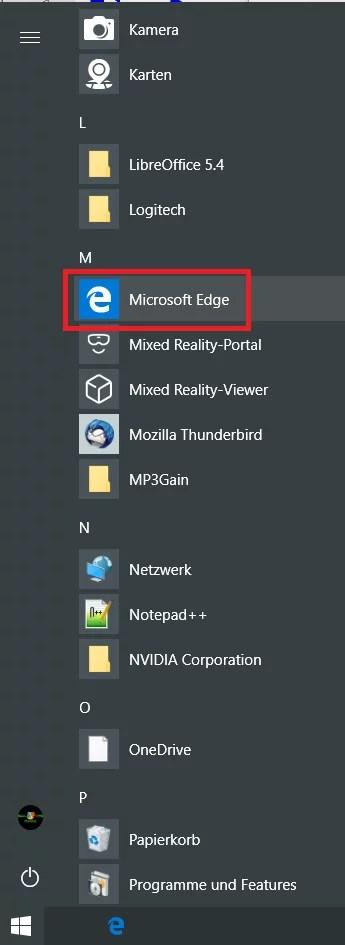 Edge Browser eine Desktopverknüpfung erstellen 1