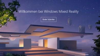 Windows 10 Mixed Reality ins Einstellungsfenster einfügen 0