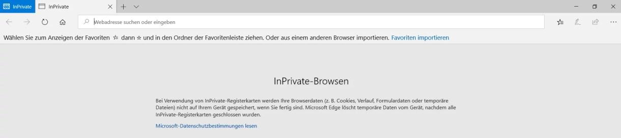 InPrivate-Modus dauerhaft im Edge Browser nutzen 8