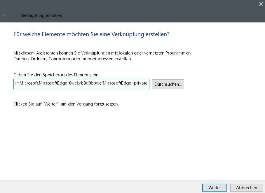 InPrivate-Modus dauerhaft im Edge Browser nutzen 1