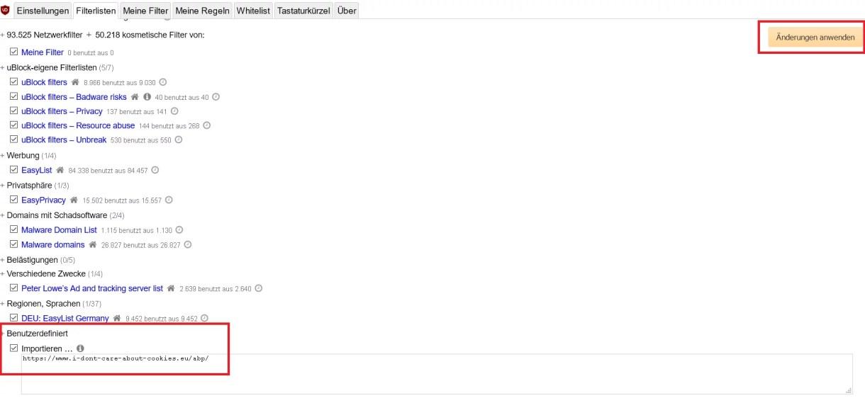 Cookie-Hinweis auf Webseiten ausblenden im Firefox 8