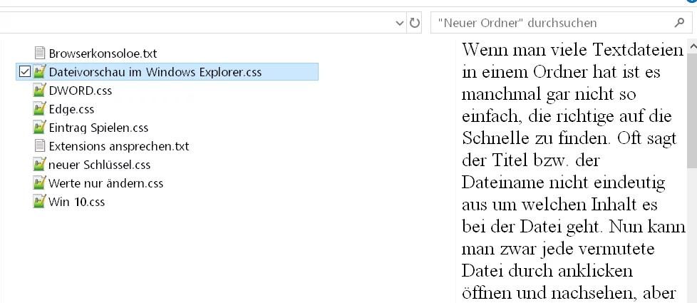 Dateivorschau im Windows Explorer aktivieren 2