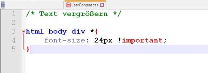 code mailtext groesser