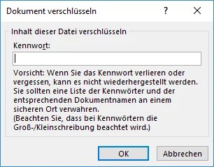 Word Datei passwort eingeben