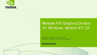 Photo of Nvidia-GeForce-Treiber Version 417.22 für Windows erschienen