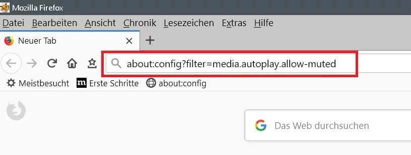 Autoplay verhindern von eingebetteten Movies ohne Ton mit Firefox 3
