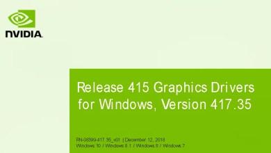 Photo of Nvidia-GeForce-Treiber Version 417.35 für Windows erschienen