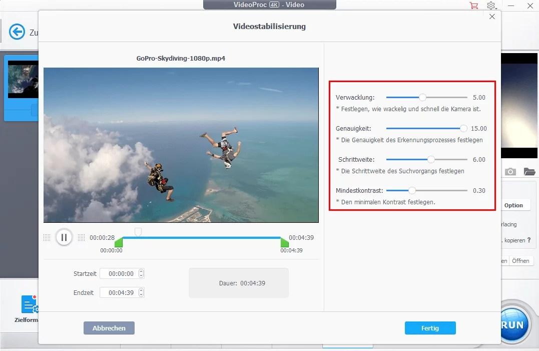 Mit VideoProc 4K Videos bearbeiten und umwandeln - so