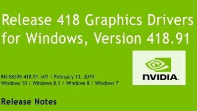 Photo of Nvidia-GeForce-Treiber Version 418.91 für Windows erschienen