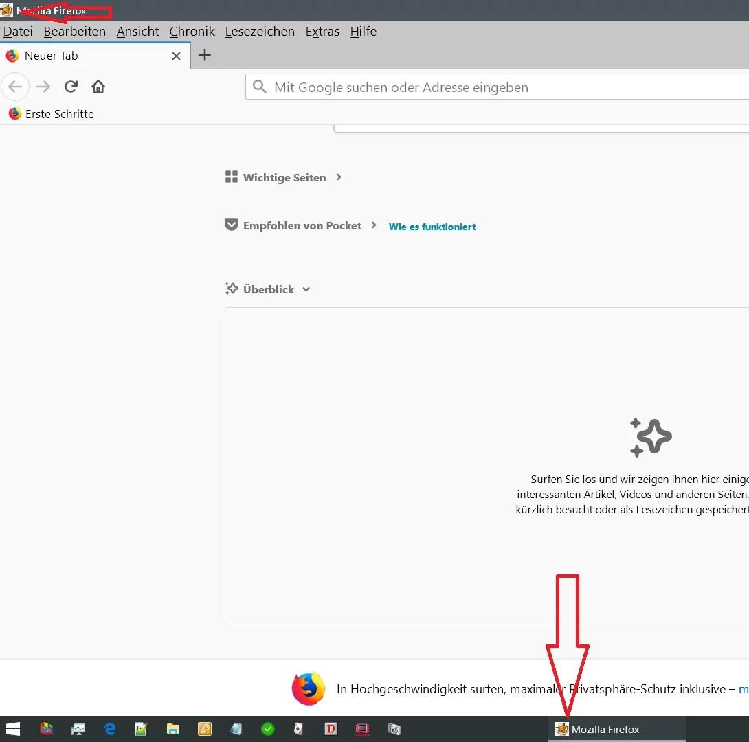 Firefox Icon vom geöffneten Browser ändern 6