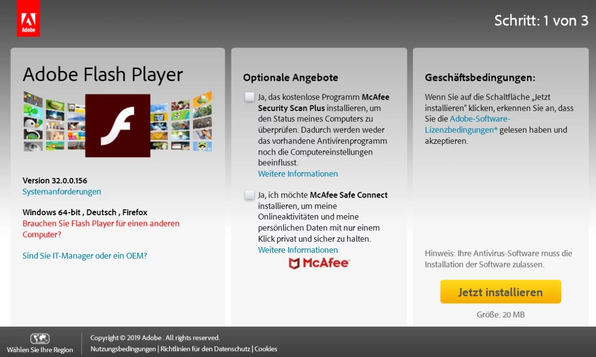 Adobe Flash Player die neue Version 32.0.0.156 ist erschienen 0