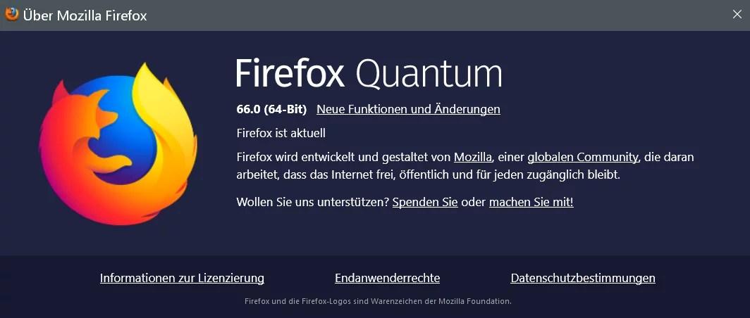 Firefox Version 66 ist erschienen und steht zum Download bereit 0