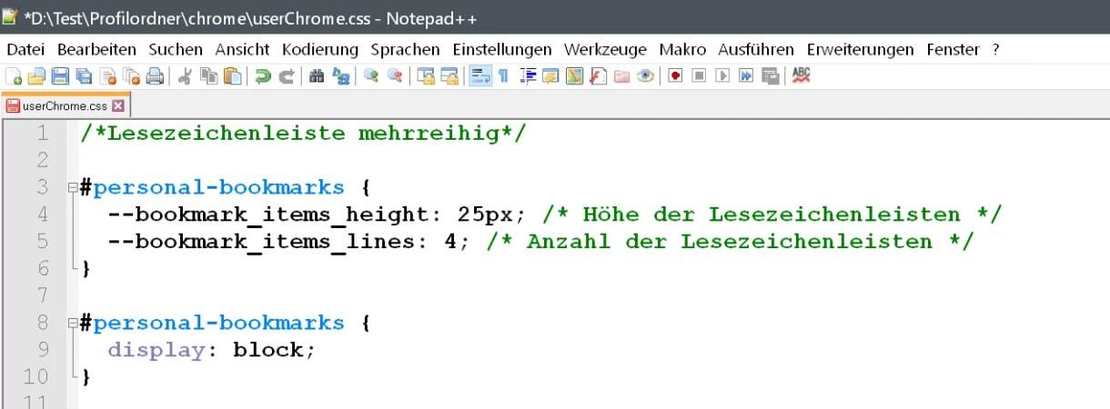 Firefox 66 – Mehrzeilige Lesezeichen-Symbolleiste 0
