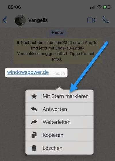 WhatsApp: Nachrichten mit Stern Markieren – In Favorit verschieben 2