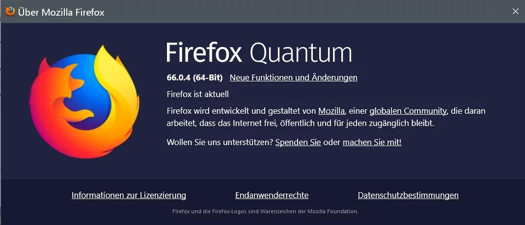 Firefox Version 66.0.4 ist erschienen und steht zum Download bereit 0