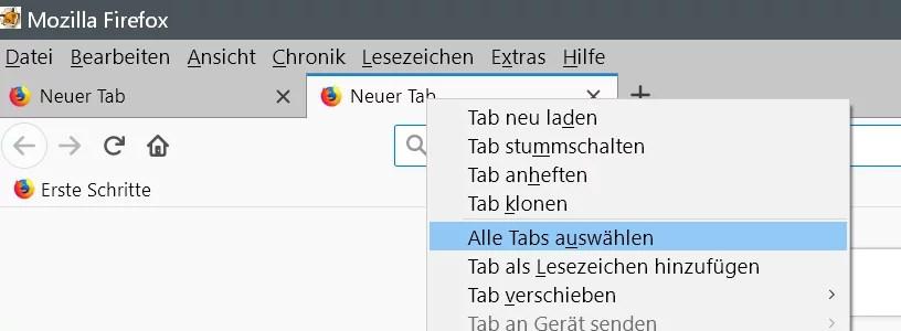 Alle offenen Tabs im Browser zwischendurch mal sichern 0