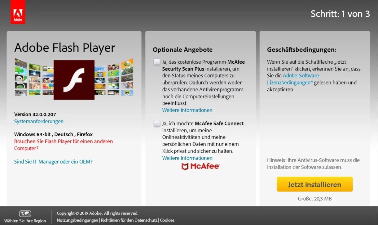 Adobe Flash Player Version 32.0.0.207 ist erschienen 0
