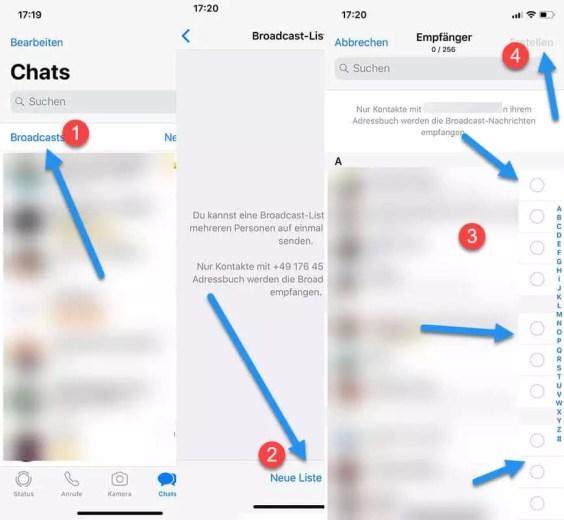 Broadcast Listen verwenden mit WhatsApp – iPhone Android 0